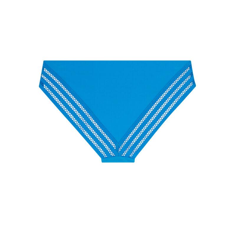 culotte en micro uni - bleu;