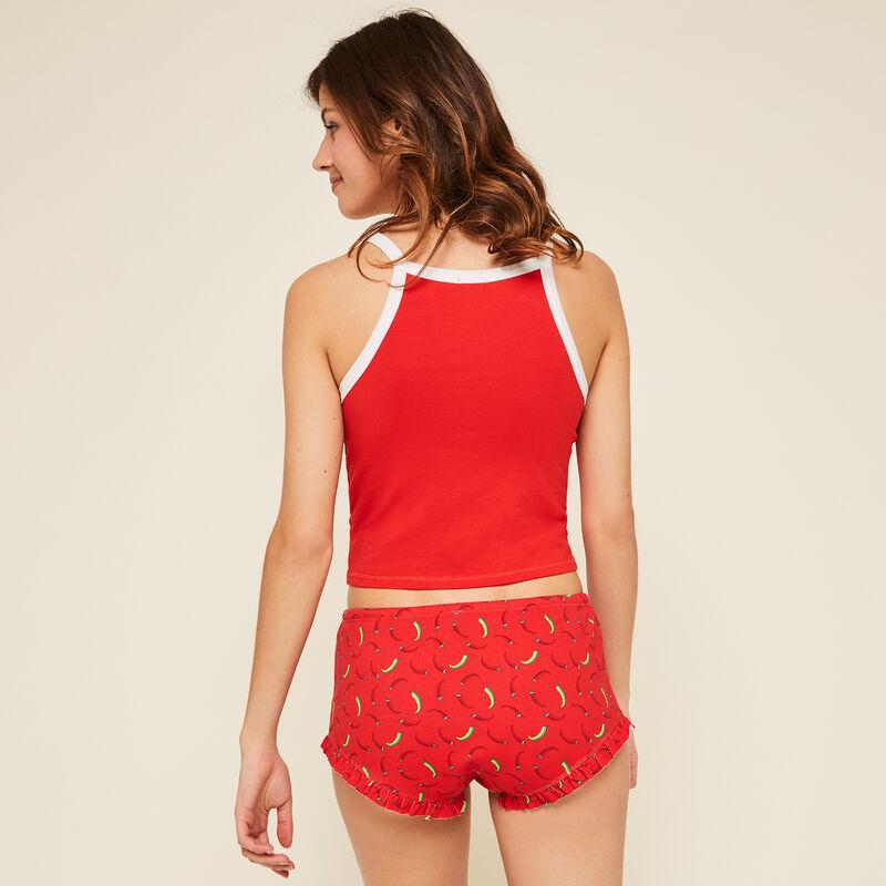 Short rouge calientiz;