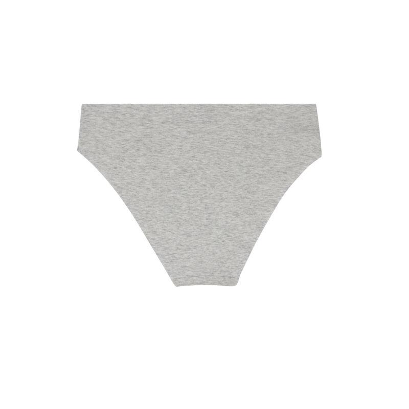 shorty en coton uni - gris;