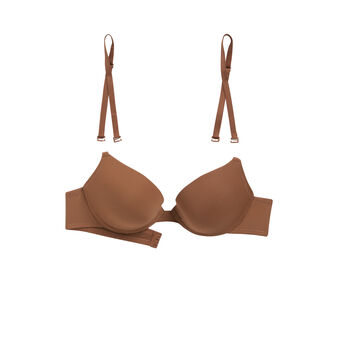 Soutien-gorge gel bra marron en micro brown.