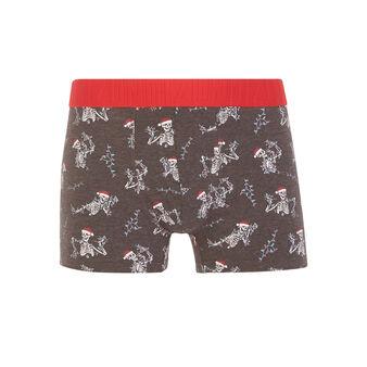 Santaskulliz dark grey boxer shorts grey.