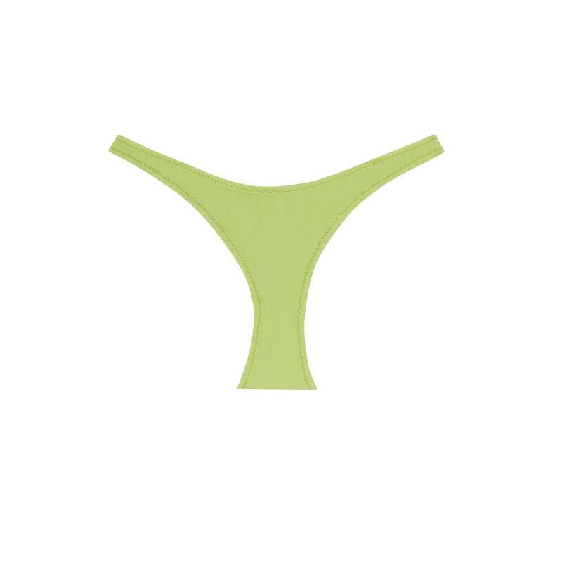 bas de maillot échancré uni - vert;