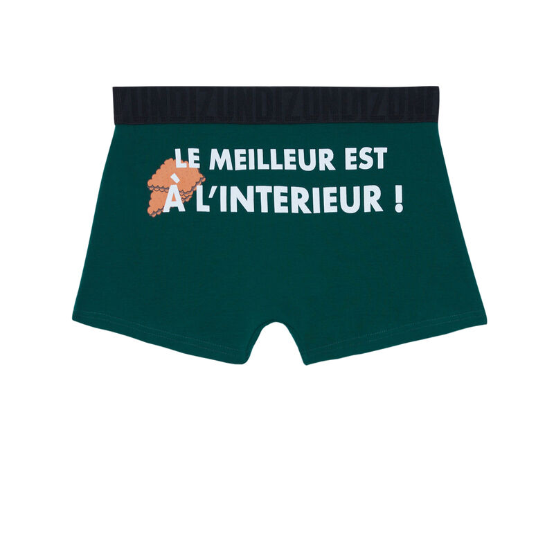 boxer à message le meilleur est à l'intérieur - vert;