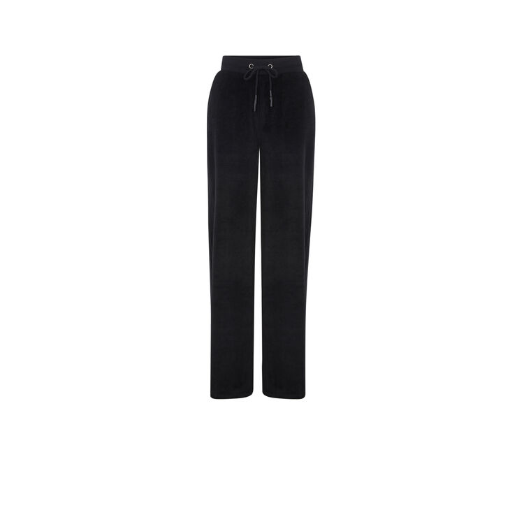Pantalon large en velours helloiz noir.