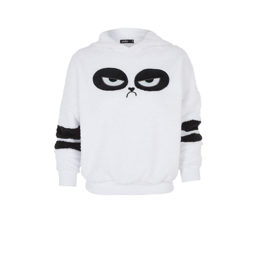 Sweat blanc pandapiliz;