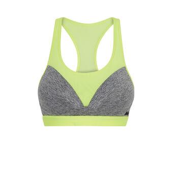 Laciz grey sports bra grey.