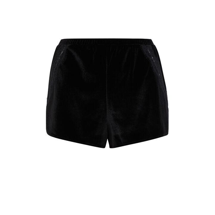 Short noir velcroisiz czarny.