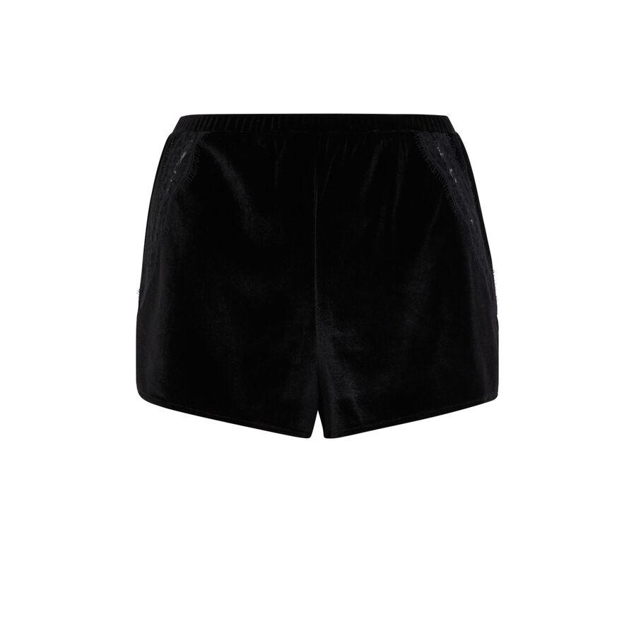 Short noir velcroisiz;