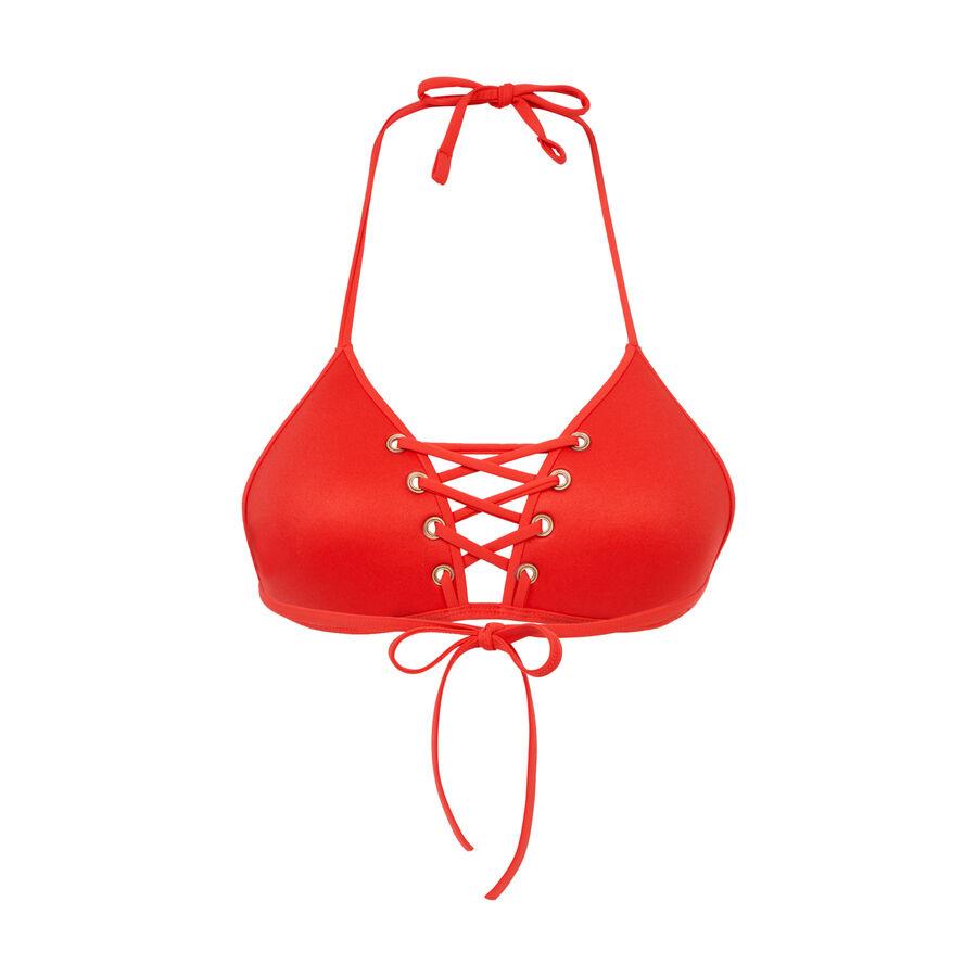 haut de maillot de bain triangle rouge vahianiz undiz. Black Bedroom Furniture Sets. Home Design Ideas