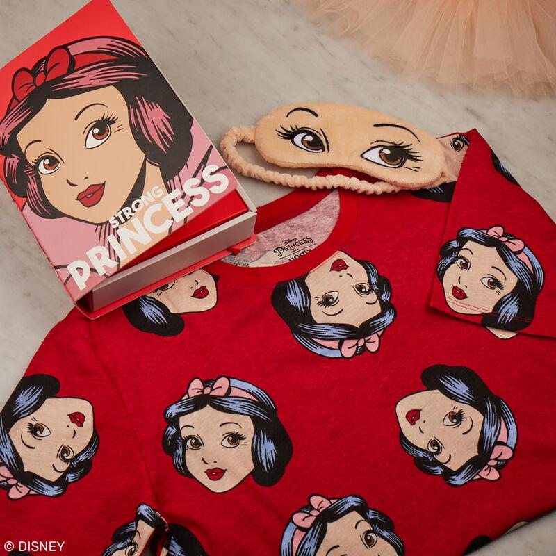 set pyjama tunique et masque Blanche Neige - rouge;
