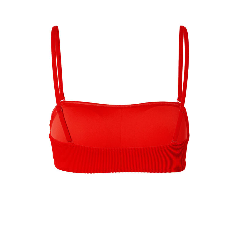 haut de maillot bandeau gaufré - rouge;