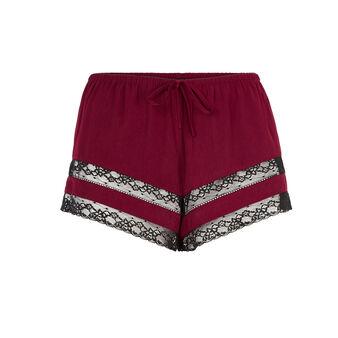 Insertiz burgundy shorts red.