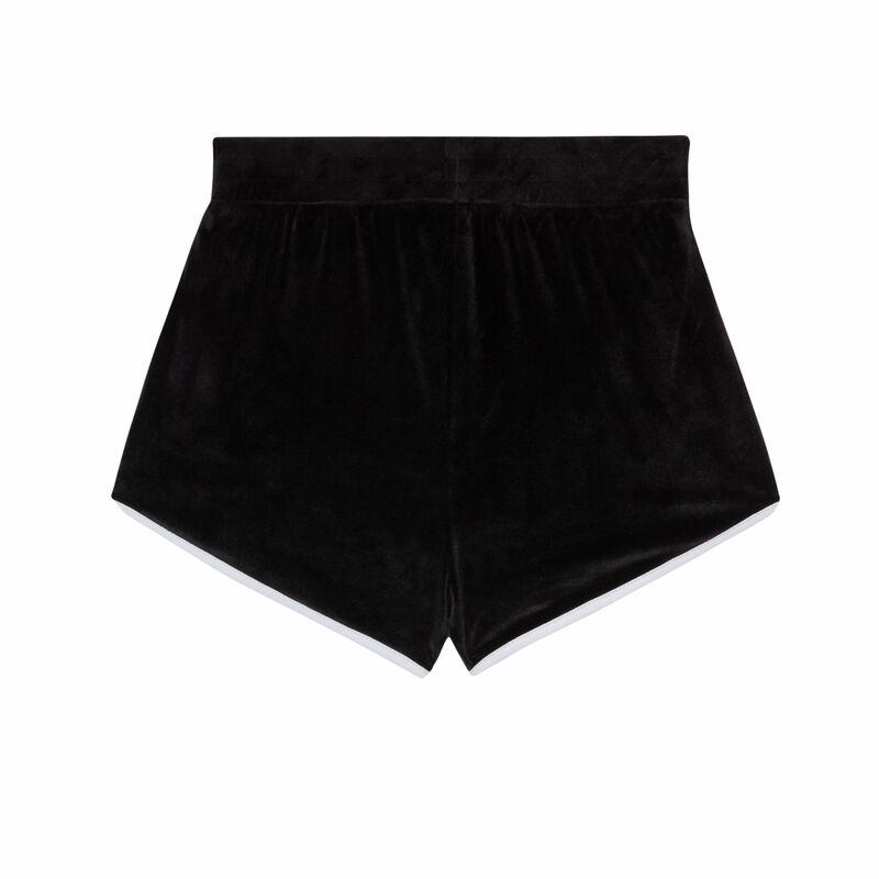 short en velours - noir;