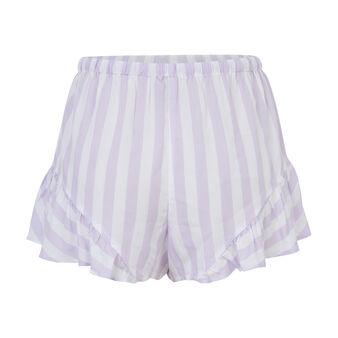 Short violet rayé blanc dourayuriz purple.