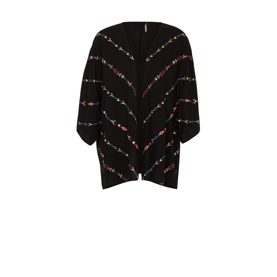 Wofreepiz black kimono;${refinementColor}