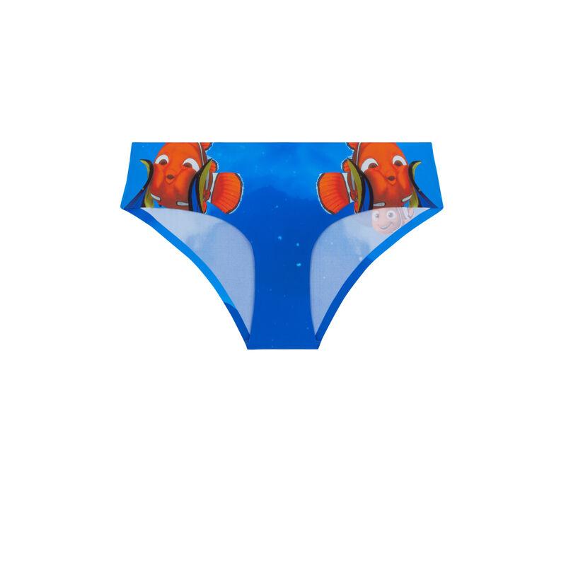 Shorty en micro imprimé Nemo - bleu ;