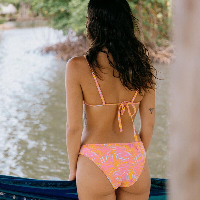 haut de maillot brassière imprimé tropical -mangue;