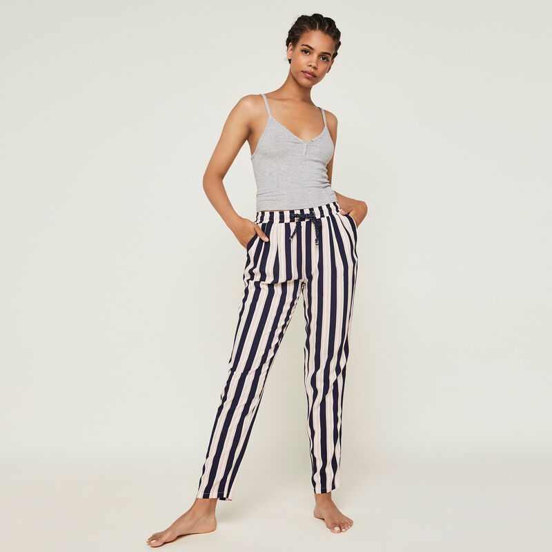 Pantalon a rayures fleurchiniz;