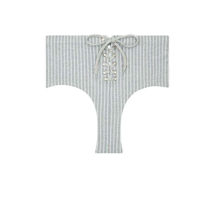 Culotte taille haute grise lareiz;