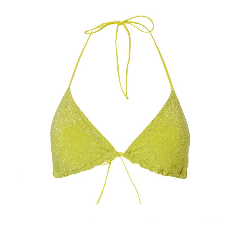 haut de maillot brassière à paillettes - jaune;