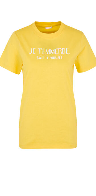 Top jaune joliefloriz yellow.