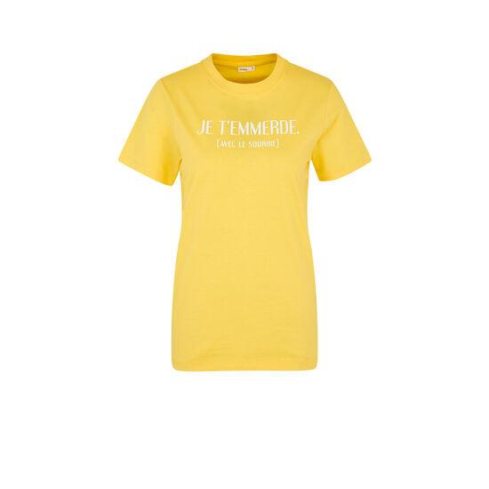 Top jaune joliefloriz;