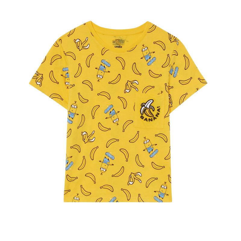 top Les Minions à motifs bananes - jaune;