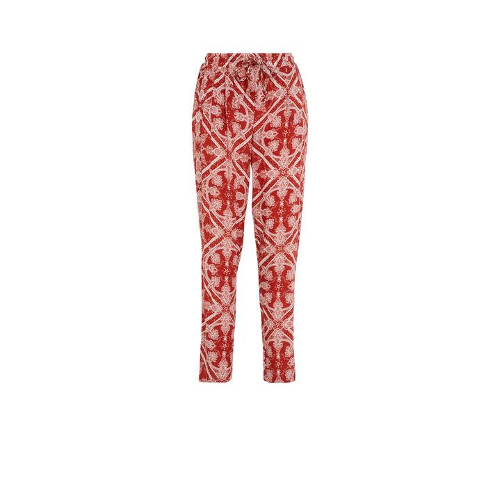 Pantalon rouge brique juleiz czerwony.