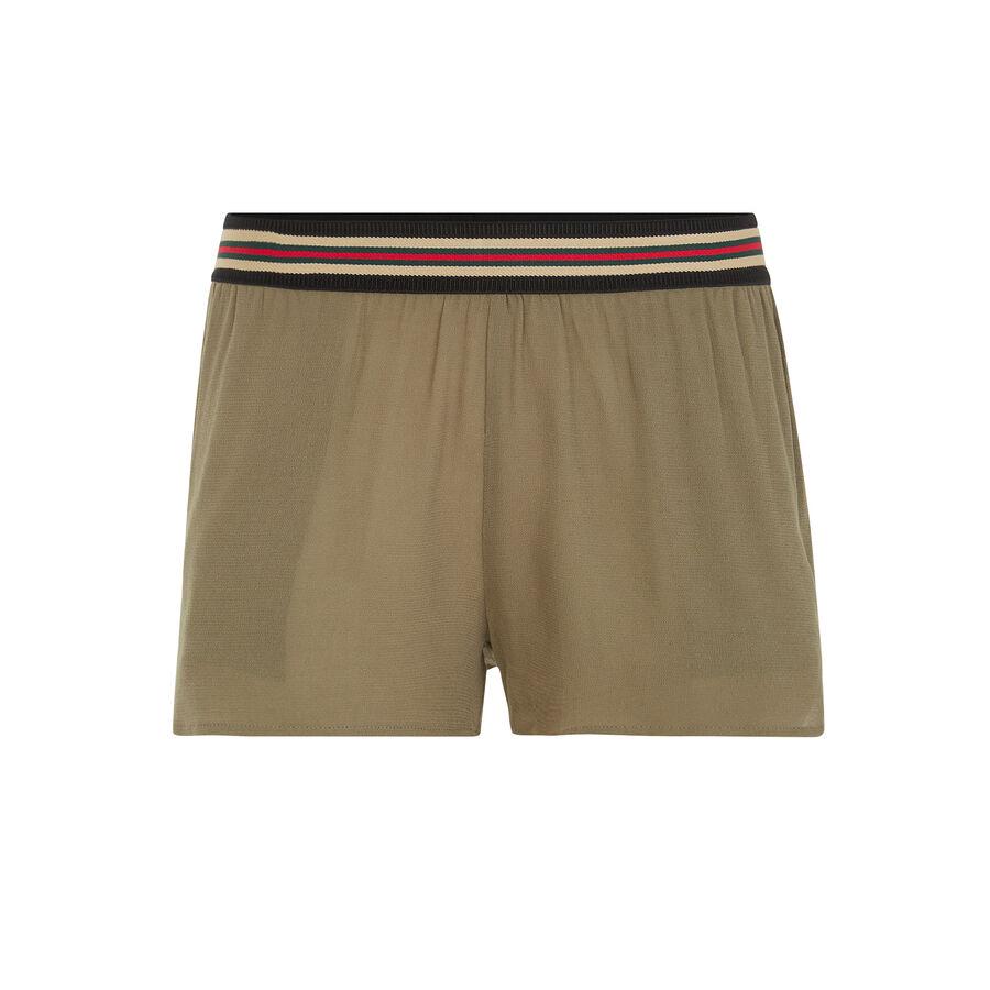 Elijaiz khaki green shorts;${refinementColor}