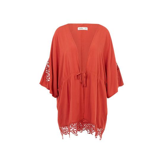Kimono rouge brique newcomacriz;