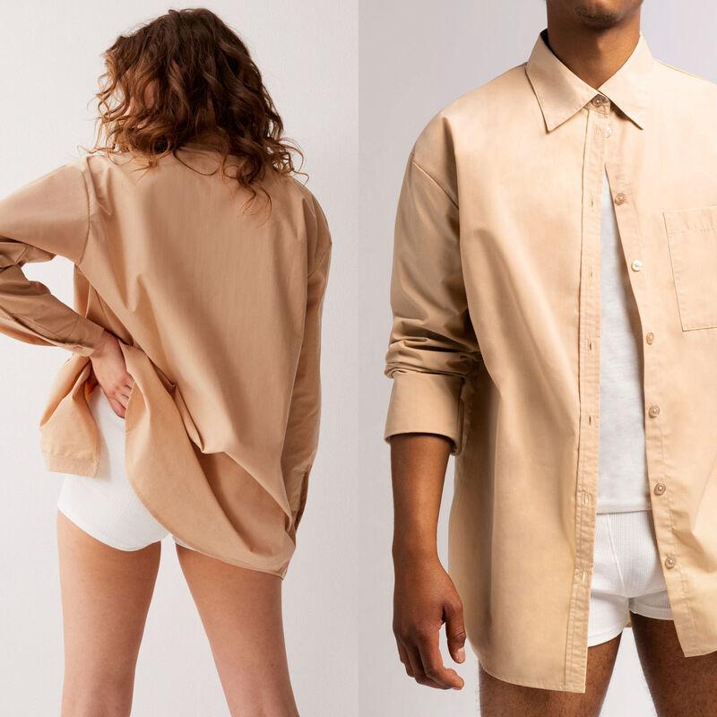 chemise unisexe - beige;