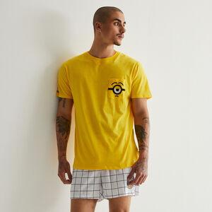 tee-shirt à détails poche Les Minions - jaune