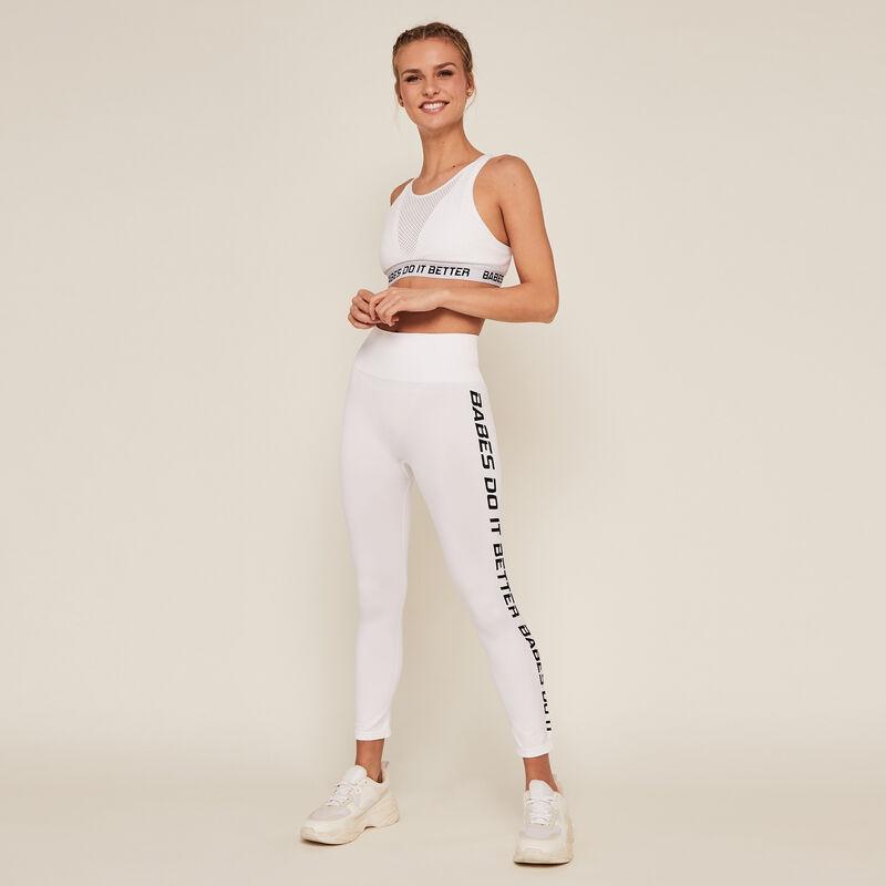 Legging court de sport - blanc;