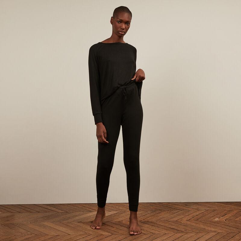 Pantalon en maille - noir ;