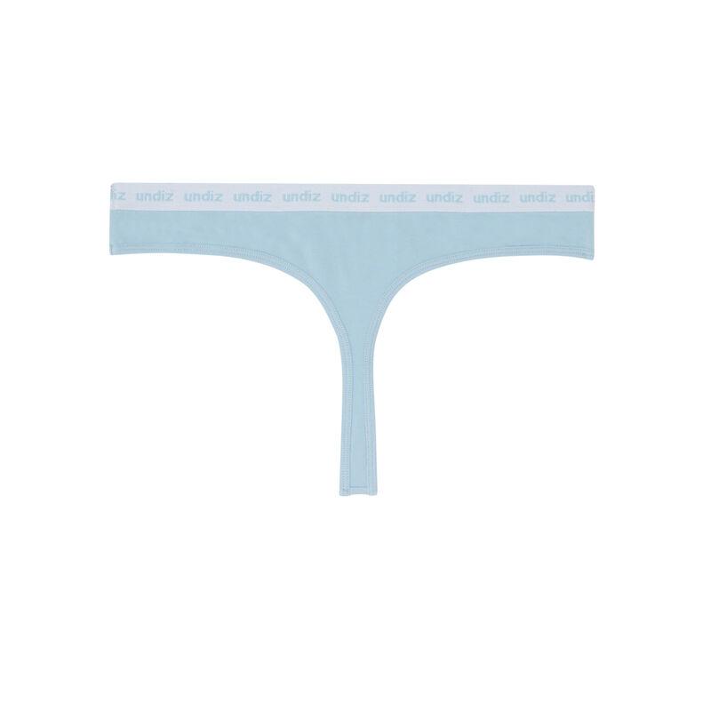 string en coton détail élastique - bleu;