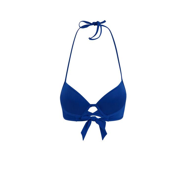 Haut de maillot de bain push bleu gabiz blue.