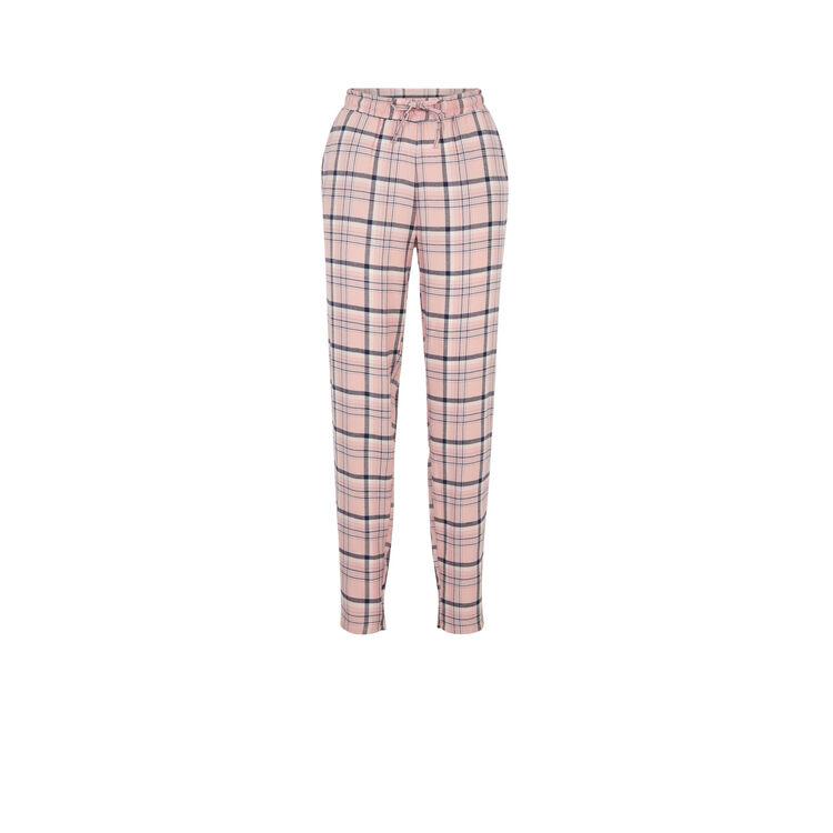 Pantalon à carreaux vintartiz rose poudré.