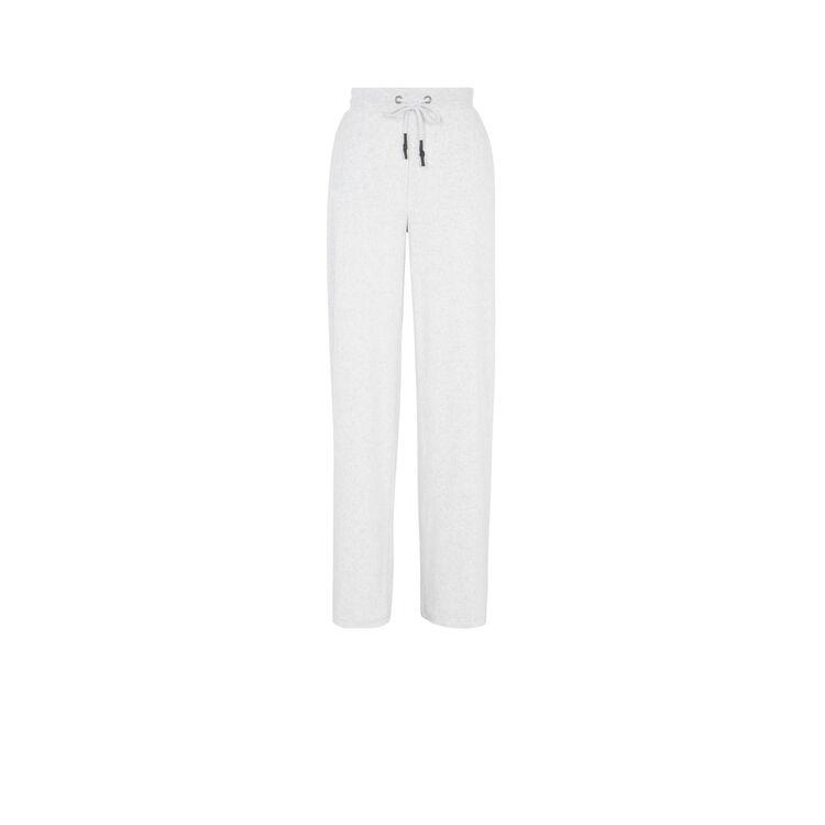 Pantalon large en velours helloiz gris clair.