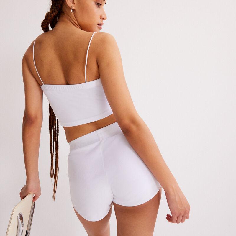 short en velours - blanc;