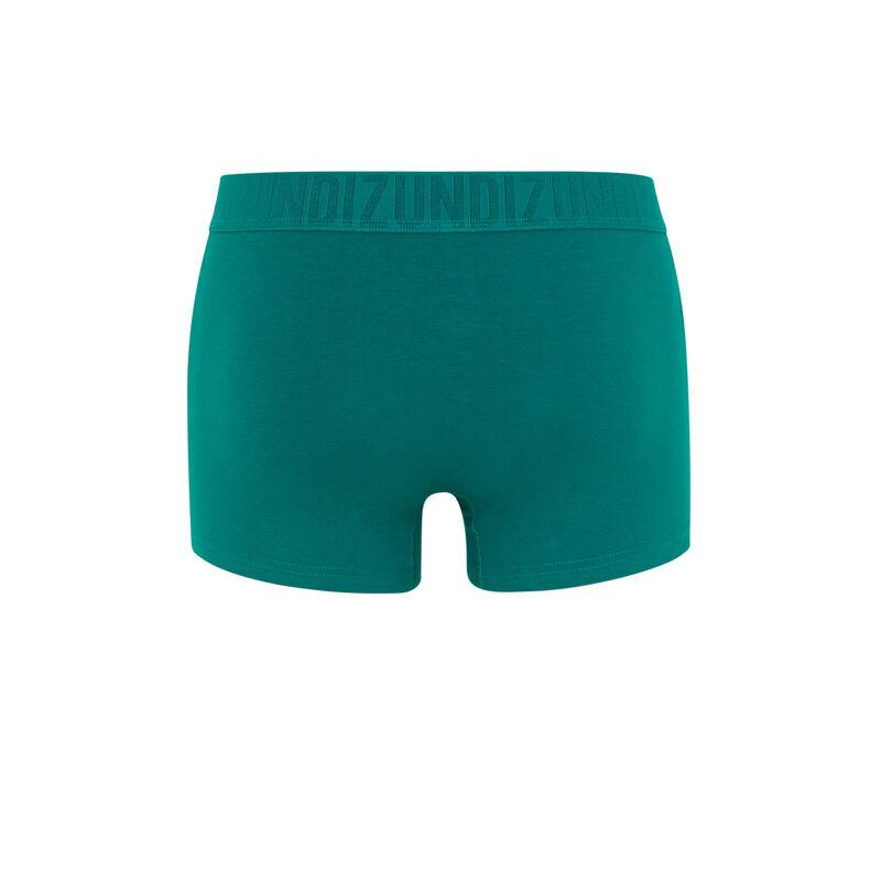 boxer en coton uni - vert;