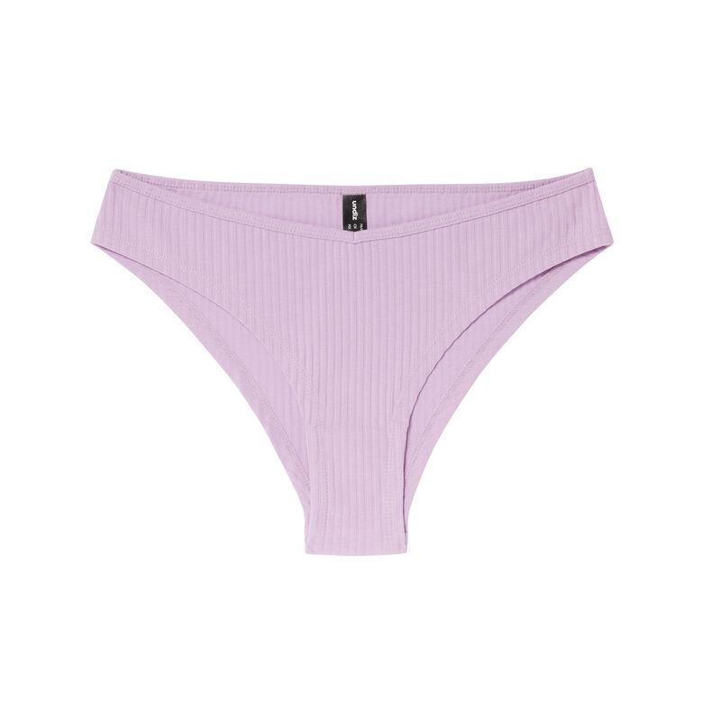 culotte en coton uni - lilas;