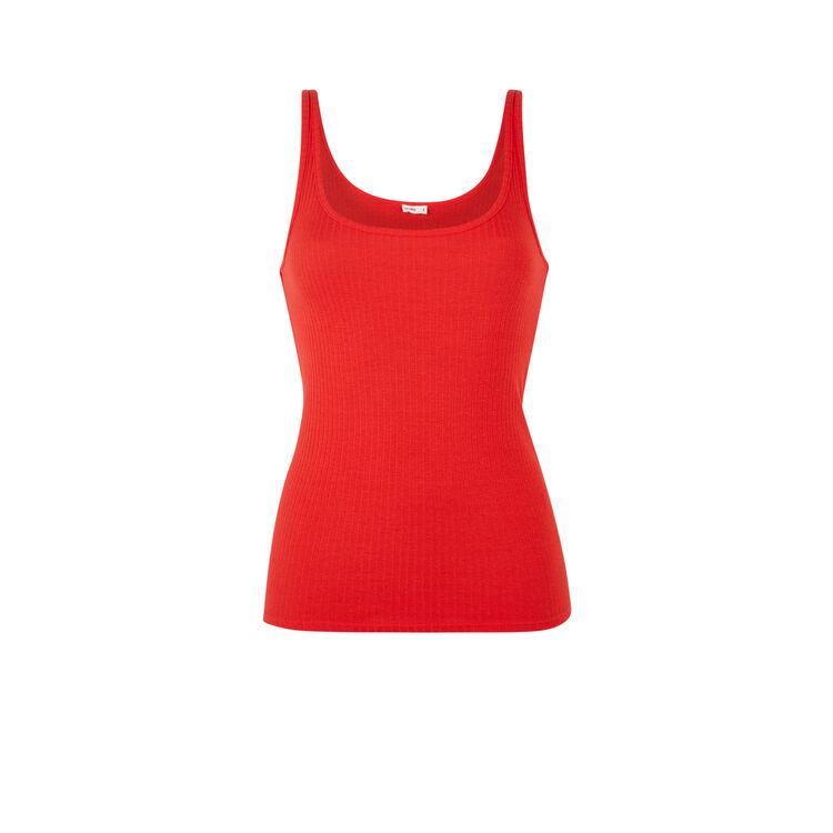 Top débardeur en jersey uni debidiz  rouge.