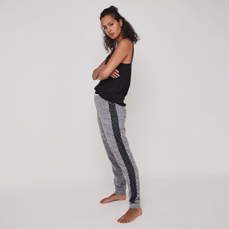Pantalon tout doux détail dentelle dentelliz;