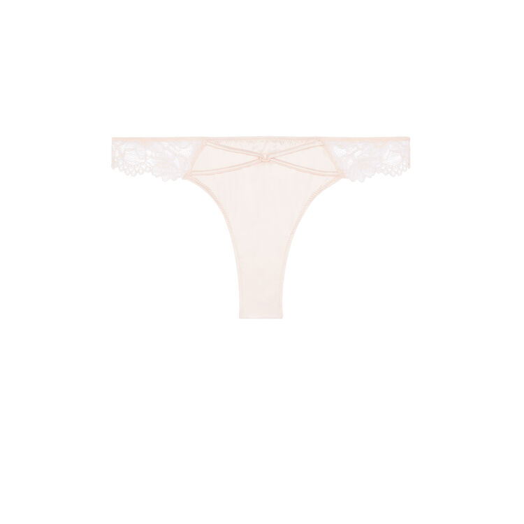 Tanga rose poudré whateveriz pink.