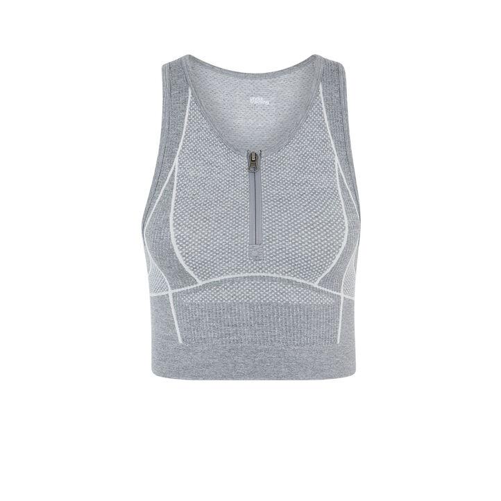 Crop top gris workouriz grey.
