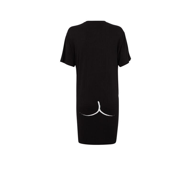 robe à manches courtes - noir ;