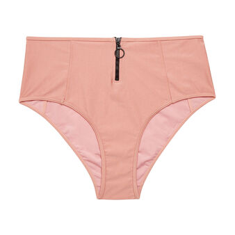 Bas de maillot de bain  culotte haute rose clair flashiz pink.