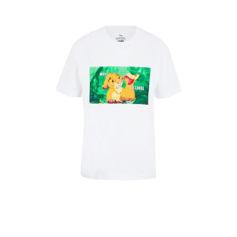 Top à manches courtes Le Roi Lion - blanc;