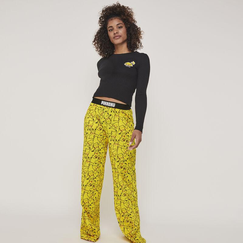 Pantalon en jersey print pikachu pikaballiz;