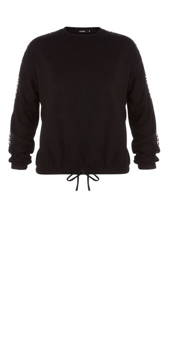 Hellobabiz black sweatshirt black.